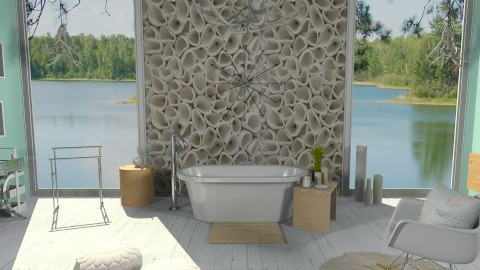 _Wooded_ - Eclectic - Bathroom - by idesine