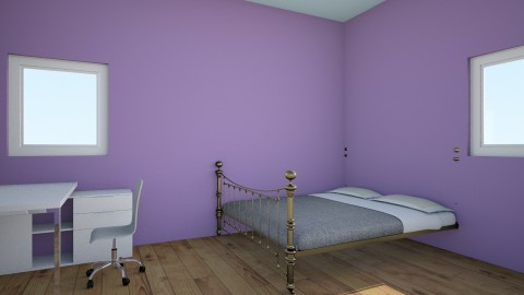Purple Place - Bedroom - by CreativityMonster22