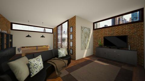 City Loft - Living room - by Brigid123