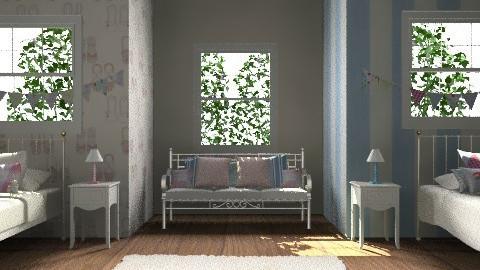 Unisex bedroom - Bedroom - by rororo