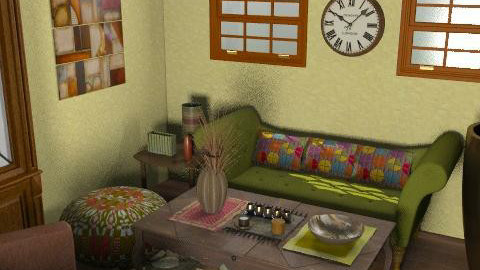 back in time - Retro - Living room - by mogly