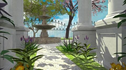 Through the Colums - Classic - Garden - by Bibiche