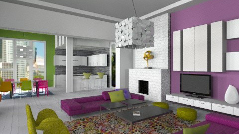 Weekend challenge Bright - Modern - Living room - by liling