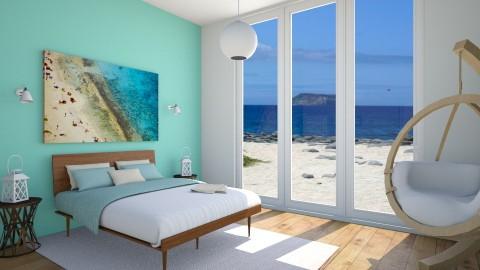 beach house bedroom - Rustic - Bedroom - by emilyjarema7