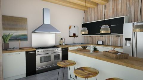 Modern Zen Kitchen - Rustic - Kitchen - by cervidaeus