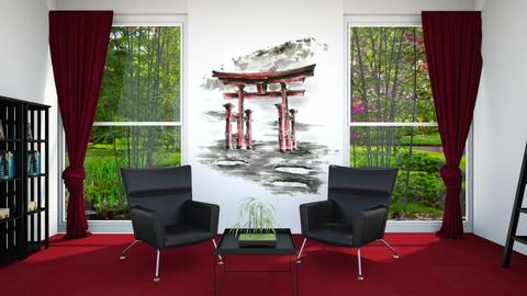 japanese art home - Living room - by ivetyy1010