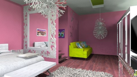girl bedroom - Modern - Bedroom - by hemelehem