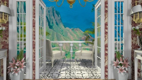 To the Balcony - Classic - Living room - by Bibiche
