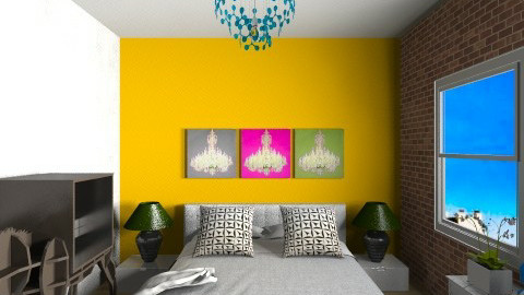 The Artist Bedroom - Eclectic - Bedroom - by ISME RARE