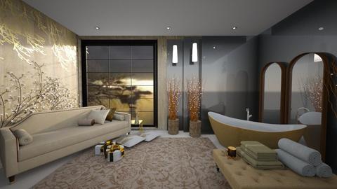 gold - Bathroom - by ana111