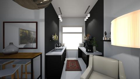 Flat 1 kitch black white - Living room - by macdebdesign