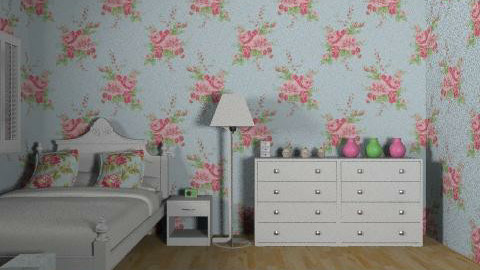floral girls bedroom - Country - Bedroom - by gemmalou42