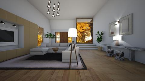 woody - Living room - by Paper Flower