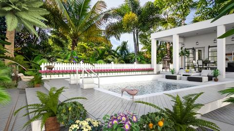 Design 432 Key West Summer - Garden - by Daisy320