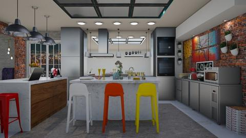 E5_Modern Playful Kitchen - Kitchen - by allessa