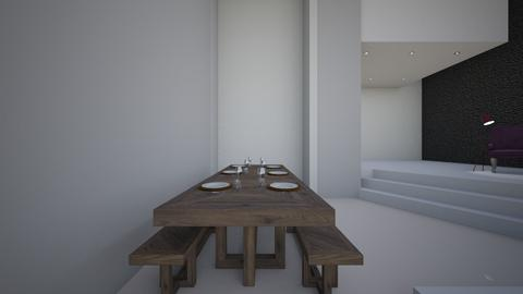 white - Dining room - by MariaMunoz