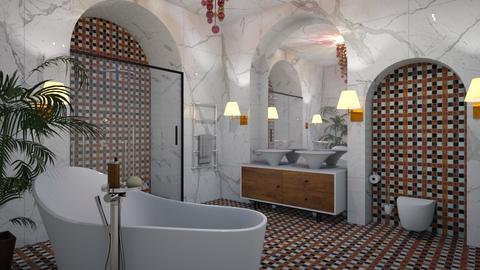 White Arches Bathroom - Modern - Bathroom - by 3rdfloor