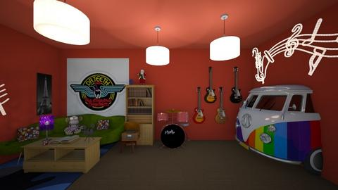 The Electric Mayhem  - Vintage - Living room - by fisssshhh