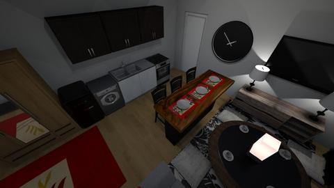 350 kitchen - Living room - by Mitj Bowman
