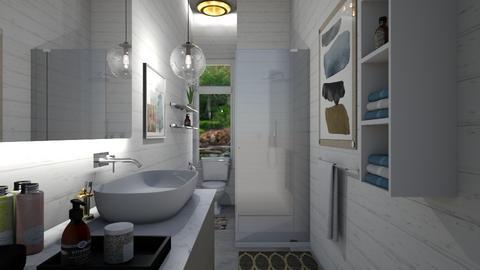 mid century bath - Bathroom - by allday08