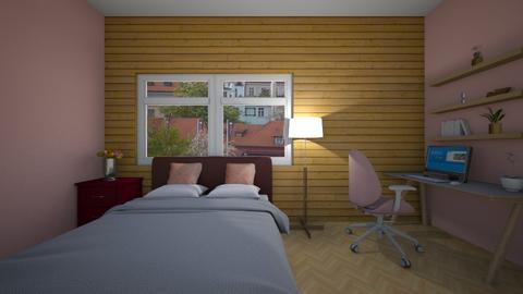 Wooden wall - Classic - Bedroom - by Twerka