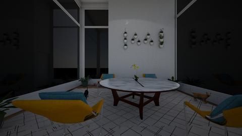 Yellow Solitude - Minimal - Living room - by MangaandCatManiac