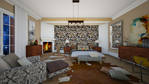 From Autumn To Winter Warm - Rustic - Bedroom - by janip