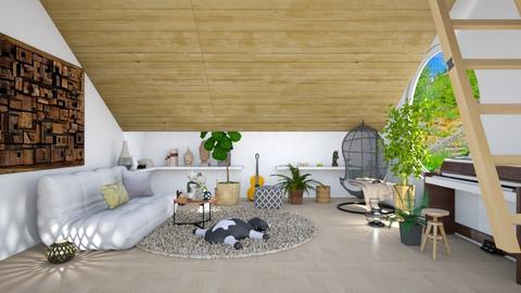 Attic - Living room - by elephant in savanna