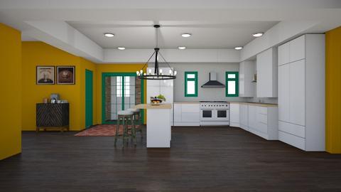 Bright Kitchen - Kitchen - by abbyt94