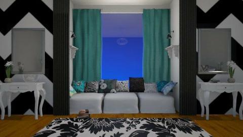 Chevron Teen Room - Bedroom - by BeckAsHeck