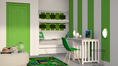 Stripes of Green - Bedroom - by millerfam