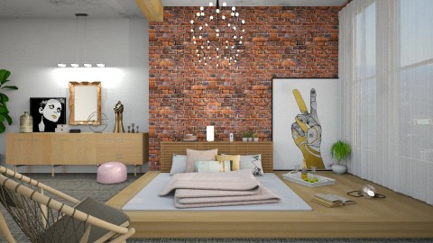 Peace and Love - Modern - Bedroom - by DeborahArmelin