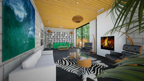 Ascending Cloud - Retro - Living room - by Theadora