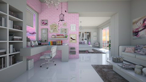 Feminine Office Space - by Sama Elhendy