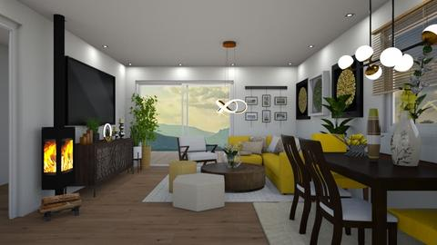 VH_Open Space_Living Room - Living room - by JarkaK