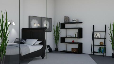 Black and White Bedroom - Modern - Bedroom - by millerfam