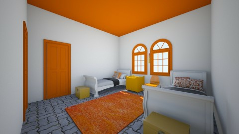 Big Orange - Bedroom - by Wendy Broyles