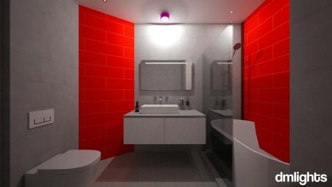 RED - Bathroom - by DMLights-user-1133665