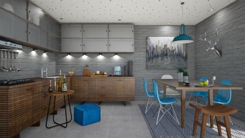 Petrol blue - Kitchen - by Liu Kovac