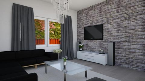 Black and white living - Living room - by Emily_Beech