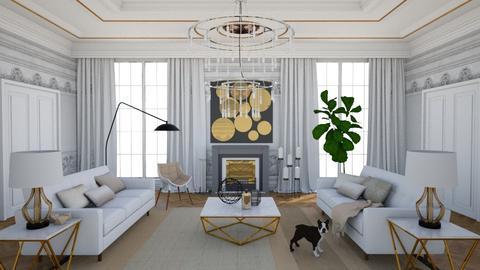 White  - Living room - by annagunbina3