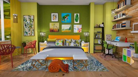 maximalist bderoom - Bedroom - by Moonpearl