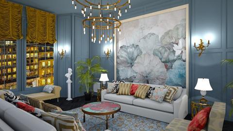 maximalist livingroom - Living room - by margesimpson2000