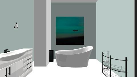 Bathroom Aqua - Retro - Bathroom - by tbyrn77