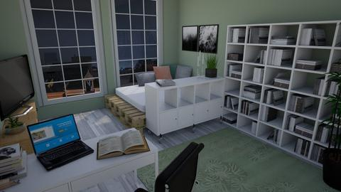 Student Room - Living room - by Keliann