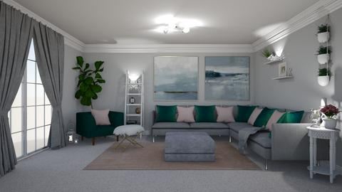 Grey Blush Emerald - Living room - by creato