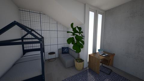 Blue bedroom - Bedroom - by katievh