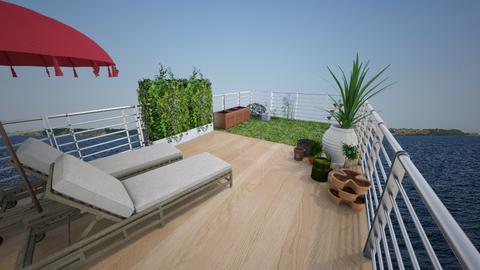 Rooftop houseboat garden - Garden - by ellafrodin