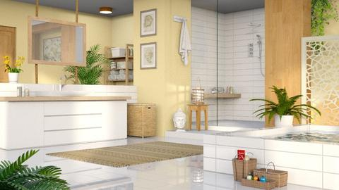 Yellow Bathroom - Bathroom - by LB1981