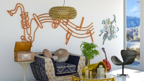 For Musicman  - Modern - Living room - by InteriorDesigner111